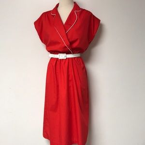 Vintage 1960's Red Day Dress